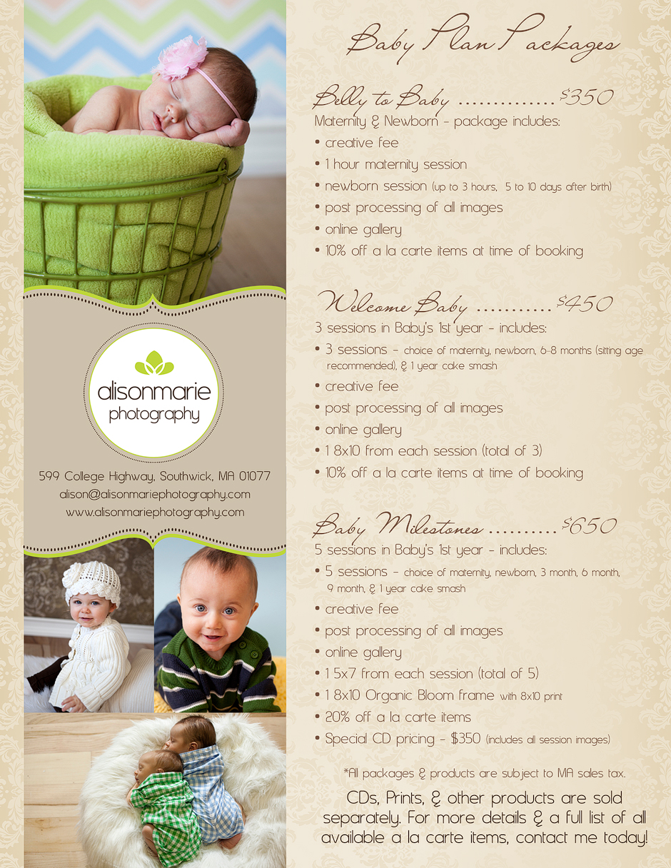 Introducing.... our NEW Baby Plan packages